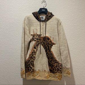 Storybook Knits Hooded Sweater Coat Giraffe Small